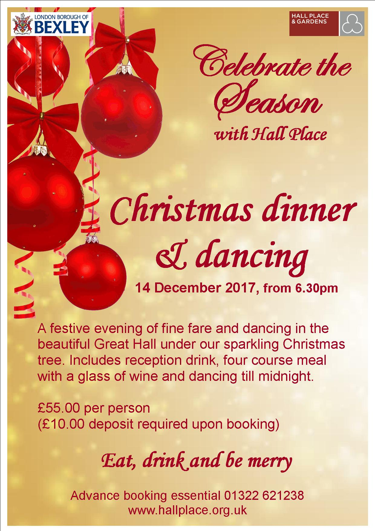 Event Advertising Christmas Dinner and Dancing