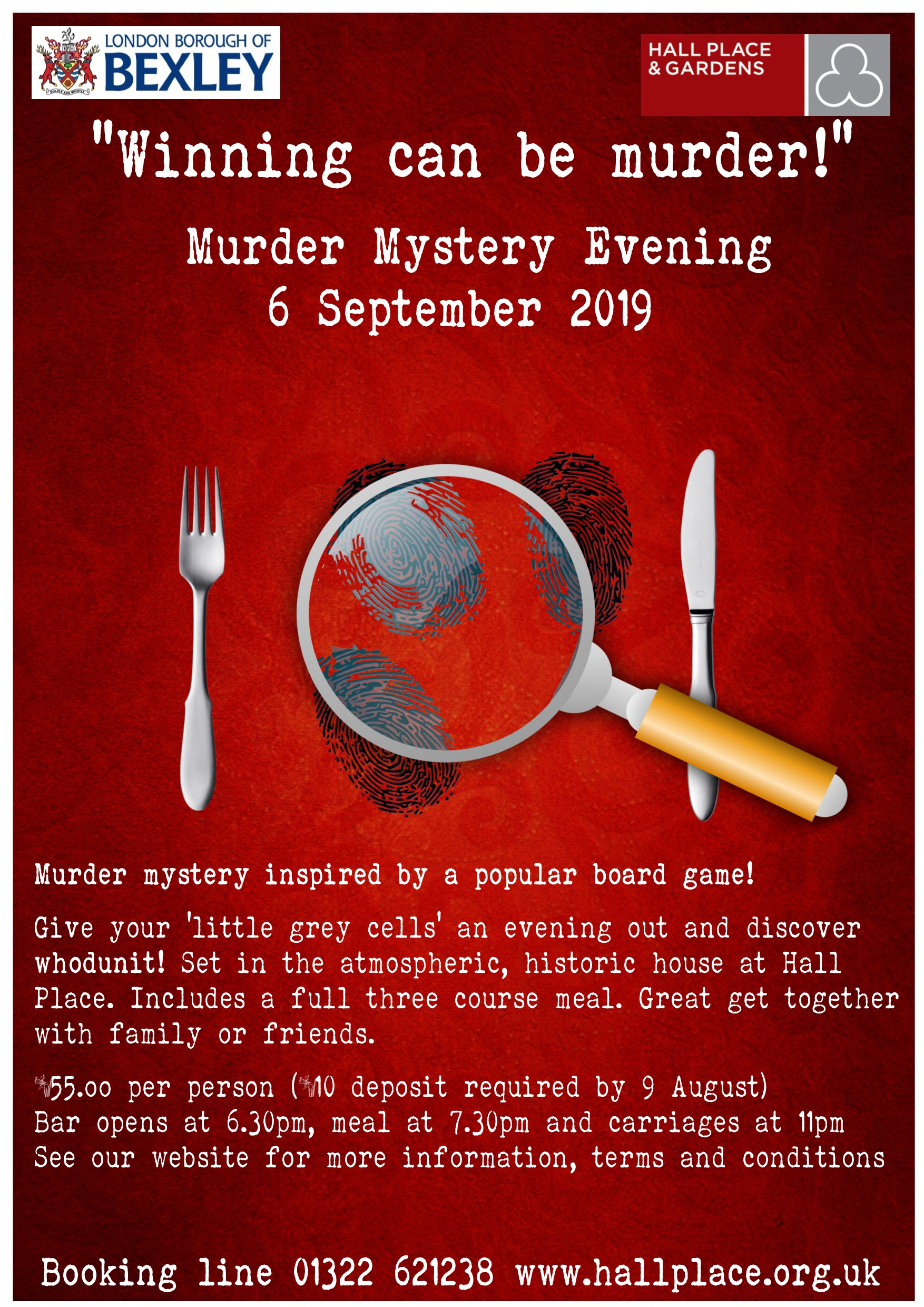 Event Advertising - Murder Mystery Evening