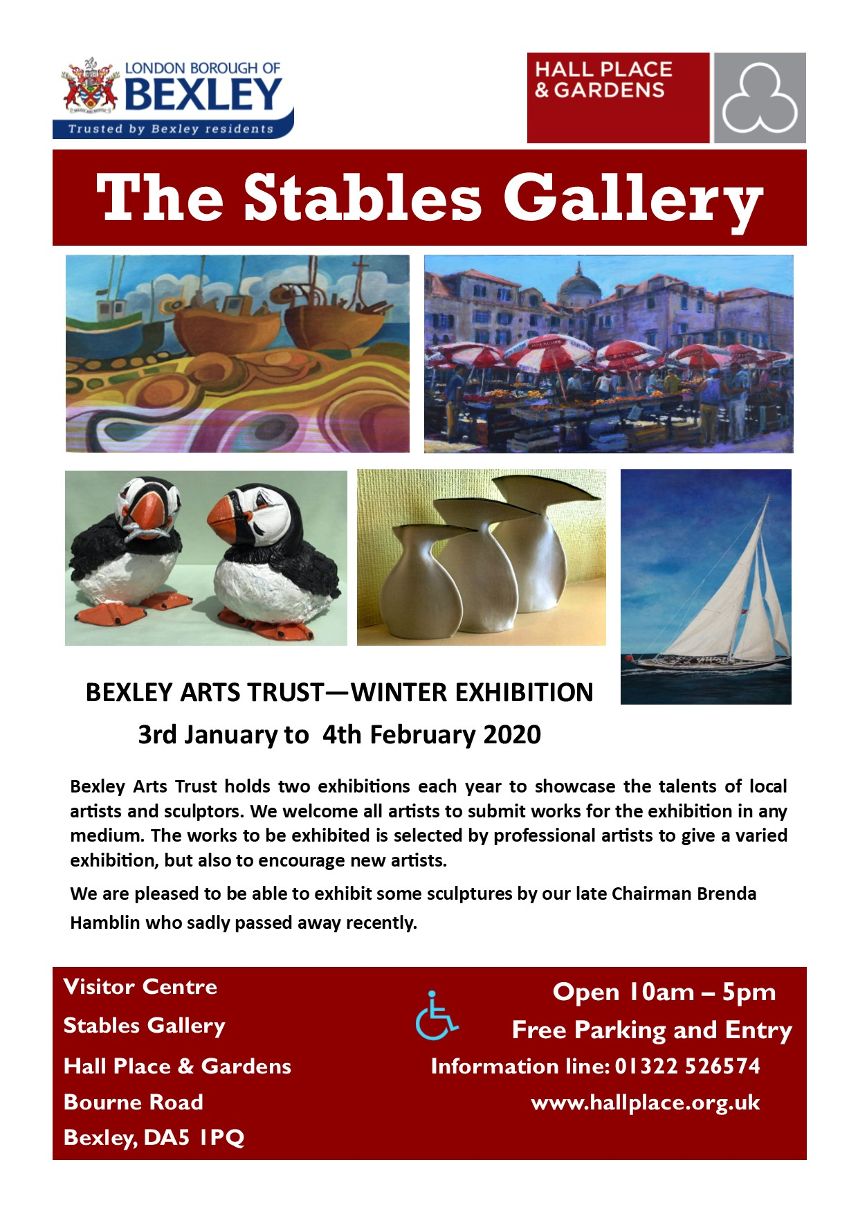 Stables Art Gallery Advertsing
