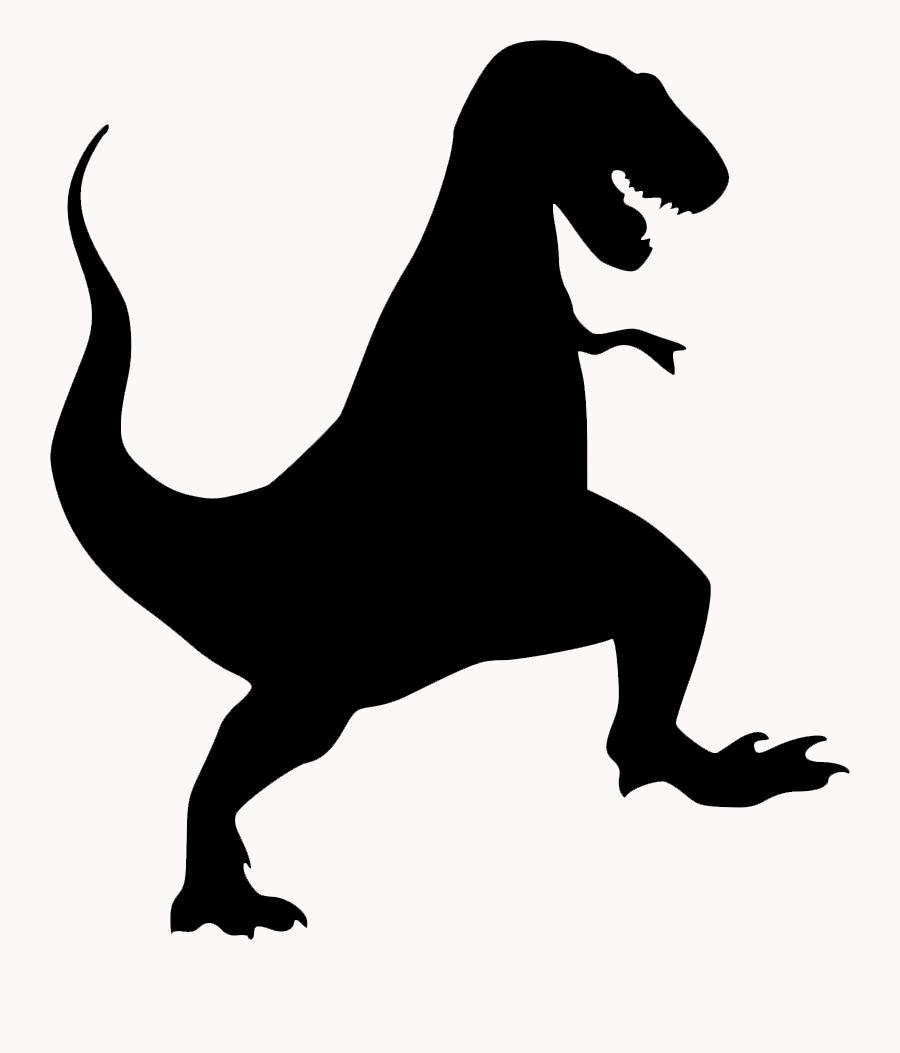 Black silhouette of T-rex dinosaur