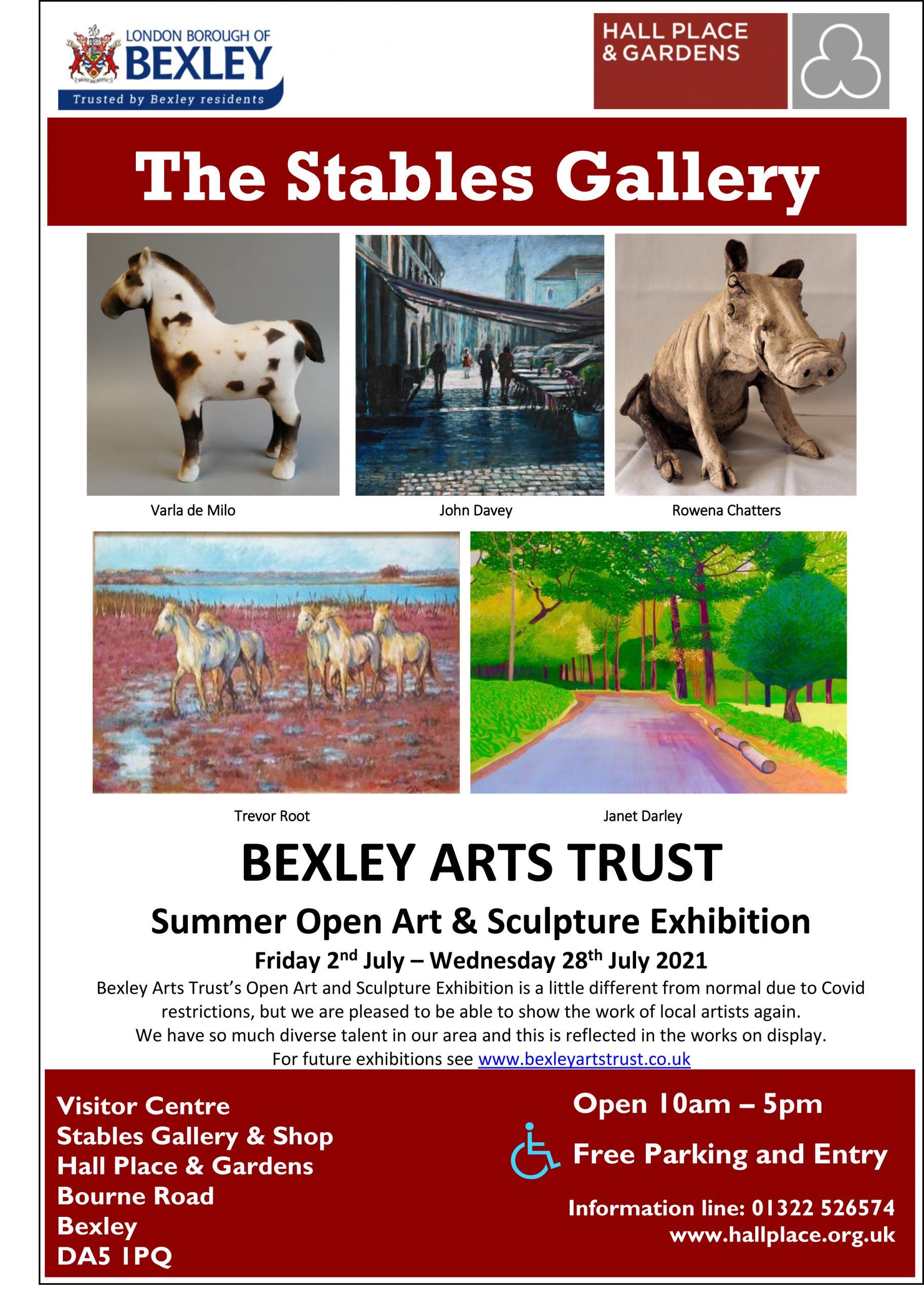 Bexley Arts Trust exhibition poster