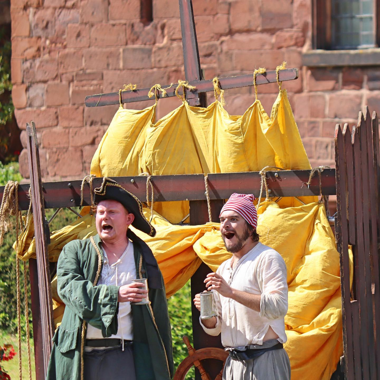 image 2 actors dressed as pirates