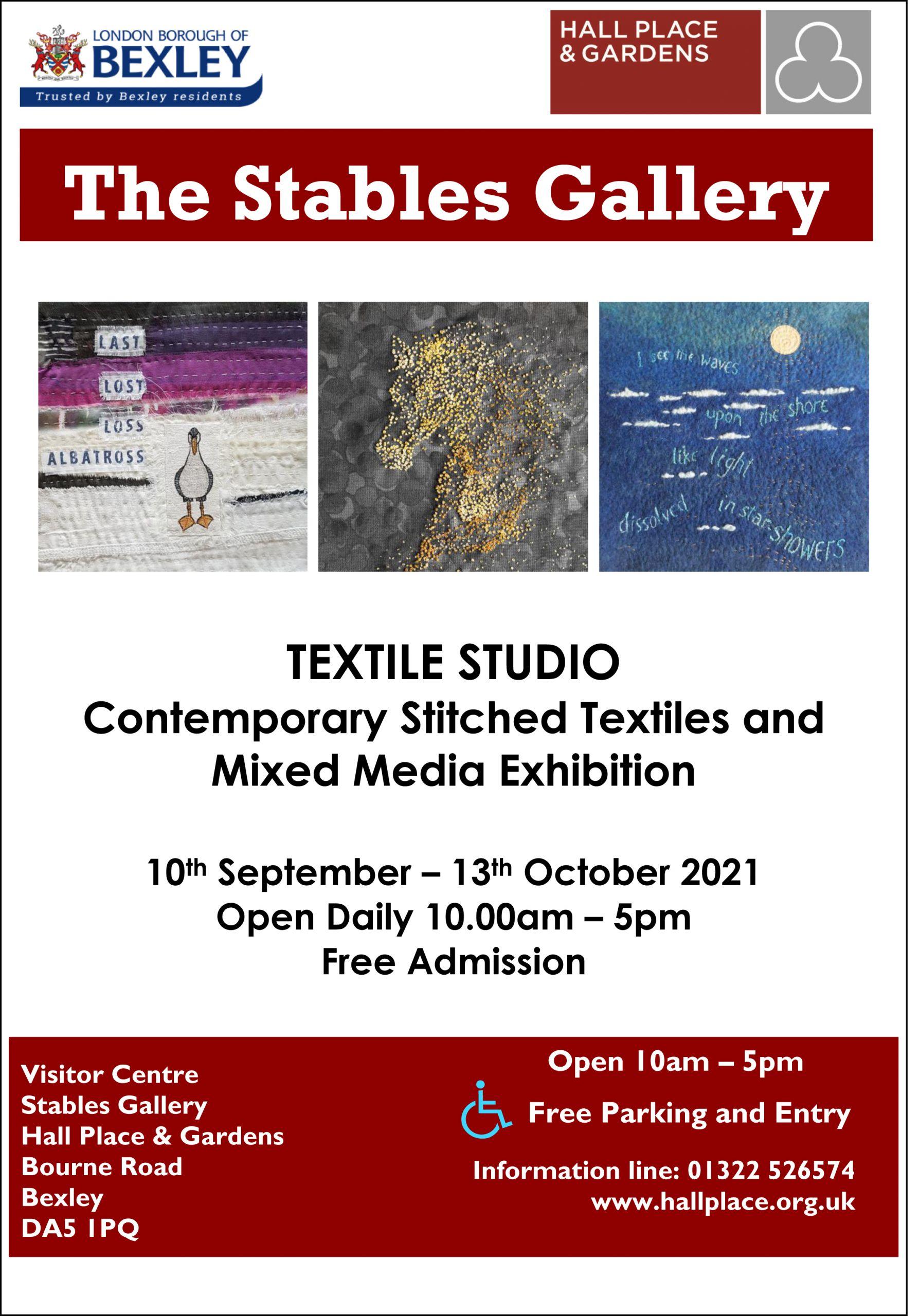 Textile Studio exhibition promotional postert