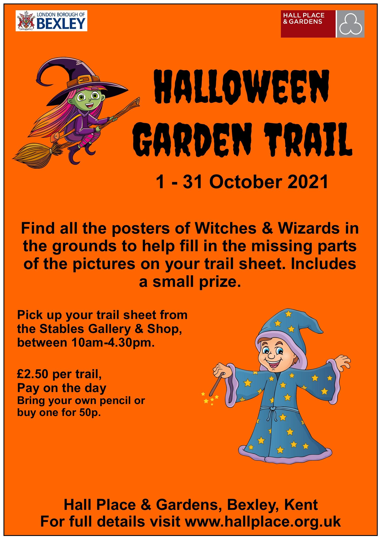 poster advertising the Halloween Garden Trail